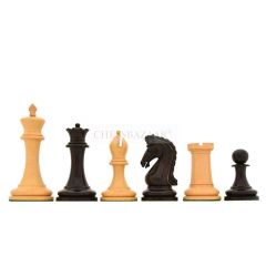 """Reproduced 90s Imperial Collector Series Chess Pieces in Ebony Wood & Box Wood - 4.4"""" King"""